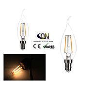 2 pçs ONDENN E14 2 COB 200 LM Branco Quente A60(A19) edison Vintage Lâmpadas de Filamento de LED AC 220-240 V
