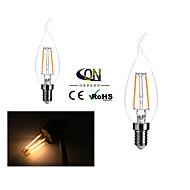 Lampes LED à Filament Gradable Blanc Chaud ONDENN 2 pièces A E12 2 W 2 COB 200 LM AC 110-130 V