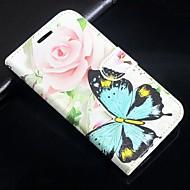 Pro Samsung Galaxy pouzdro Pouzdro na karty / se stojánkem / Flip / Magnetické / Vzor Carcasă Oboustranný Carcasă Motýl PU kůže SamsungA5