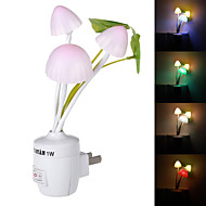 1W 3-LED Mushroom Shape Style Switch Induction Light Colorful Nightlight Lamp (US Plug/220V)