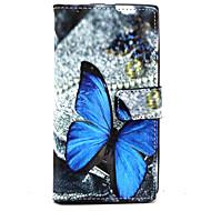 Mert Nokia tok Pénztárca / Kártyatartó / Állvánnyal Case Teljes védelem Case Pillangó Kemény Műbőr Nokia Nokia Lumia 830