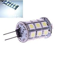 5 pcs ding yao G4 6W 27X SMD 5050 230LM 2800-3500/6000-6500K Warm White/Cool White Bi-pin Lights DC 12V