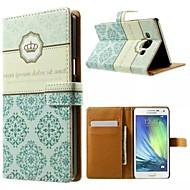 Til Samsung Galaxy etui Etuier Kortholder Med stativ Flip Magnetisk Mønster Pose etui Etui Flise Kunstlæder for Samsung A5
