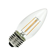 E26/E27 Ampoules à Filament LED C35 COB 400 lm Blanc Chaud Gradable / Décorative AC 110-130 V