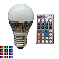 E26/E27 Lampadine globo LED A50 1 LED ad alta intesità lm Colori primari Intensità regolabile Controllo a distanza Decorativo AC 85-265 V