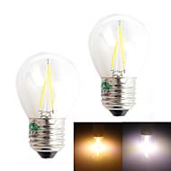 Zweihnder E27 2W 180LM 3000/6000K LED Tungsten Cool/Warm  White Globe Bulb (AC 220-240V,2Pcs)