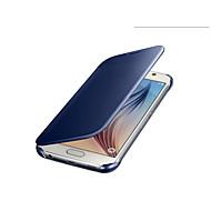 luxo originais visão clara tela espelho estojo de couro da aleta para Samsung Galaxy S6 telefone sacos cobrir têm embalagens
