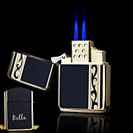 هدية شخصية تصميم الأربطة بوتيك معدنية سوداء اللهب المزدوج البوتان أخف وزنا