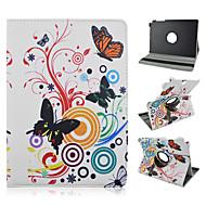 Pro Samsung Galaxy pouzdro se stojánkem / Flip / Rotace o 360° / Vzor Carcasă Oboustranný Carcasă Motýl PU kůže Samsung Tab A 9.7