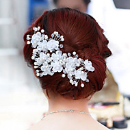 Women Pearl/Alloy Flowers With Pearl Wedding/Party Headpiece