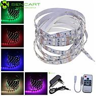 5M 300x5050 SMD RGB 72W Light LED Strip Lamp + 10-Key RF Controller + EU Plug Power Supply Adapter AC100-240V