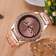 caso mostrador redondo relógio da liga relógio marca de moda quartzo das mulheres (mais cores disponíveis)