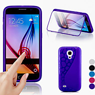 BIG D Touch View TPU & Silicone Flip Cover for Samsung Galaxy S4 Mini I9190(Assorted Colors)