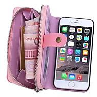 Na iPhone 8 iPhone 8 Plus iPhone 6 iPhone 6 Plus Etui Pokrowce Portfel Etui na karty Pokrowiec Kılıf Solid Color Twarde Prawdziwa skóra na