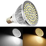 E14 7W(=Incan 60W) 60X2835SMD 700LM CRI>80 WarmWhite/White Light LED Spotlight Bulb AC110V /220V