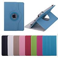 de alta calidad de 360 grados de rotación de cuero de la PU con el caso del soporte para la tableta de 7 pulgadas universales (colores