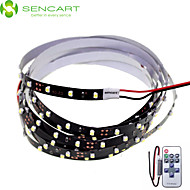 120cm 5W 90x3528SMD White / Cool White  Light LED Strip Lamp for Car + 11-Key RF Controller(DC 12V)