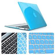 slim cristal caso de cuerpo completo de calidad superior con la cubierta del teclado para MacBook Pro de 13,3 pulgadas (colores surtidos)