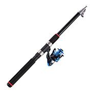 Wędka telespin Wędka telespin Węgiel 2.1/2.4/2.7/3.0/3.6 M Sea Fishing Pręt Czarny-海龙王