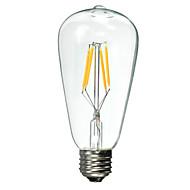 Lâmpada de Filamento LED E26/E27 4 W 300 LM 2600 K Branco Quente 4 LED de Alta Potência 1 pç AC 85-265 V