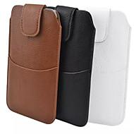 fælles pu materiale Litchi plus ydre pose til at bære et bælte hylster til Samsung Galaxy Note 3 note 4 S6 a7 (assorterede farver)