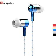 langsdom i-1 corde enroulée tissu tressé isolation phonique earohone-auriculaires avec micro