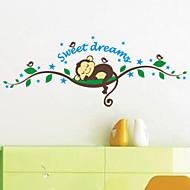 애니멀 / 카툰 / 3D 벽 스티커 플레인 월스티커 데코레이티브 월 스티커,PVC 자료 이동가능 홈 장식 벽 데칼