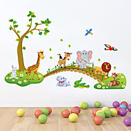 muurstickers muur stickers stijl mooie bos dier pvc muurstickers