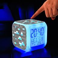 minecraft 7 cambiamento di colore sveglia digitale ha portato termometro quasi colorati giocattoli incandescente