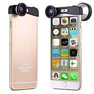 Apexel 3-in-1 180 Degree Fish Eye Lens + 10X Macro Lens and 0.4X Super Wide Angle Camera Lens Kit for iPhone 6