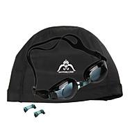 jie jia super anti-tåke briller j2659-1 (svart) + hongruike Hon skarpe gram stoff caps (svart)