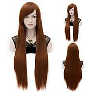 """80cm / 31 """"inch lange rechte bruin kostuum cosplay haar volledige pruik"""