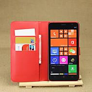 Για Θήκη Nokia Πορτοφόλι / Θήκη καρτών / με βάση στήριξης tok Πλήρης κάλυψη tok Μονόχρωμη Σκληρή Συνθετικό δέρμα Nokia Nokia Lumia 1320