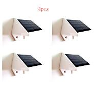 4pcs HRY® 4LEDS White Color Light SolarWallLight Solar Lights
