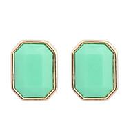 Stangøreringe Harpiks Legering minimalistisk stil Mode Beige Grøn Blå Lys pink Smykker 2 Stk.