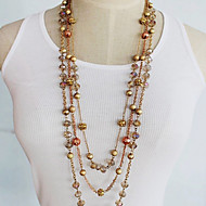 Women's Crystals Beads Long Necklace