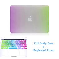 más nuevo arco iris delgado flip cuerpo completo caso y TPU cubierta del teclado dura para el aire del macbook 13.3 pulgadas