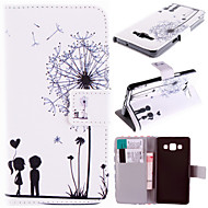 Couple Dandelion Pattern with Card Bag Full Body Case for Samsung Galaxy A5