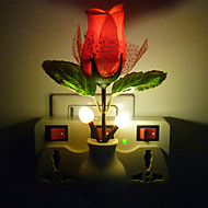 Fantasy Creative Light Control LED Night Light Red Rose