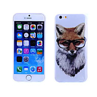 Fox Pattern TPU And IMD Soft Case for iPhone 6/6S