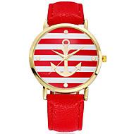 anchor moda femminile rosa quadrante oro del quarzo della fascia pu orologio analogico (colori assortiti)