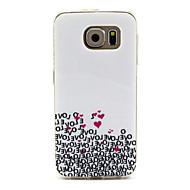 Para Samsung Galaxy Capinhas Estampada Capinha Capa Traseira Capinha Palavra / Frase TPU Samsung S6
