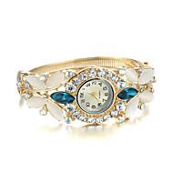 Dames Modieus horloge Armbandhorloge Kwarts imitatie Diamond Legering Band Bangle armband Elegante horloges Goud Wit Blauw Regenboog