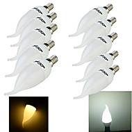 10PCS YouOKLight®  E14 3W CRI=70 200lm 8-SMD2835 Warm White Light Cool White Light LED Candle Bulbs(220~240V)