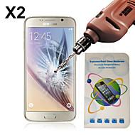 nieuwe ultradunne 0.26mm 2.5d explosieveilige gehard glas screen protector voor de Samsung Galaxy s6 rand g9250 (2 stuks)