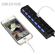 conector do adaptador de 2.0 hub de alta velocidade 7 Porta USB para ligar / desligar para laptop pc