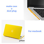 """colores sólidos mate estuche rígido de cuerpo completo con el enchufe del polvo para el MacBook Air de 13,3 """"(colores surtidos)"""
