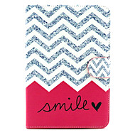 Pink Wave Smile Pattern PU Leather Full Body Case with Stand for iPad mini 1/2/3