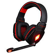 kotion hver G4000 stereo støydempende gaming headset m / mic hifi driver LED lys for pc - to farger valgfritt