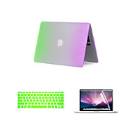 """3 in 1 regenboog matte full body tas met toetsenbord hoes en screen protector voor MacBook Air 13,3 """""""